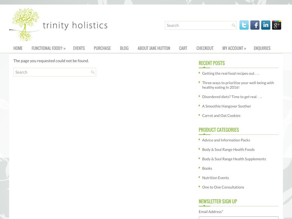 Trinity Holistics
