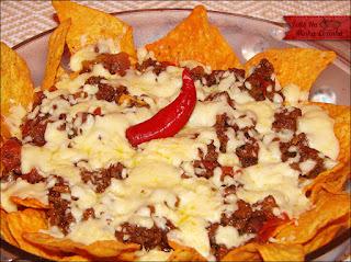 prato mexicano de carne moida com doritos