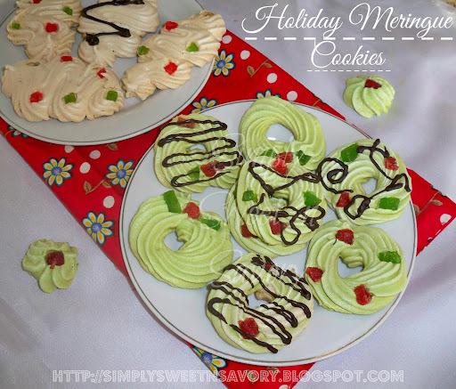 Holiday Meringue Cookies