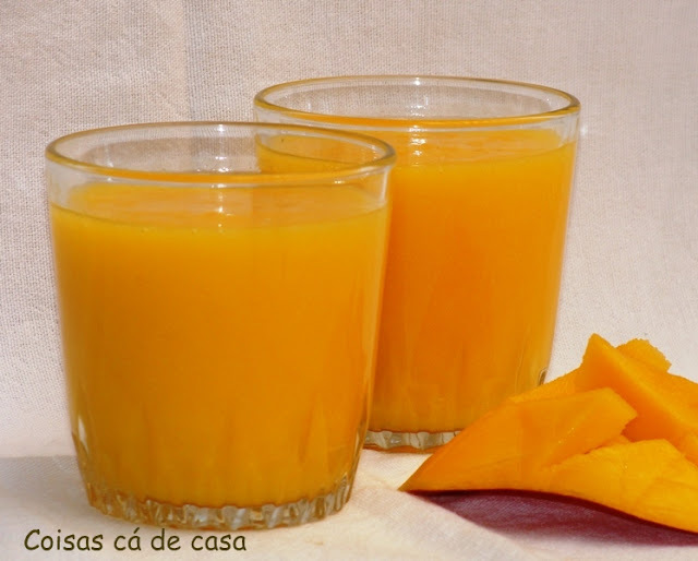 Batido de laranja com manga