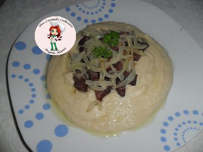 Carne seca PAINEIRA acebolada com pirão de leite