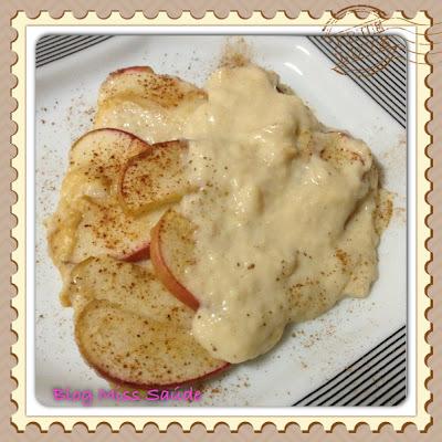 Creme de confeiteiro diet com maçãs ao forno