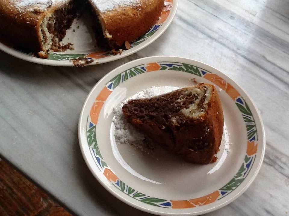 TORTA MÁRMOL DE CHOCOLATE Y YOGUR