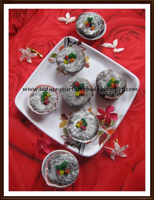 Eggless Choco-Beet Cupcakes