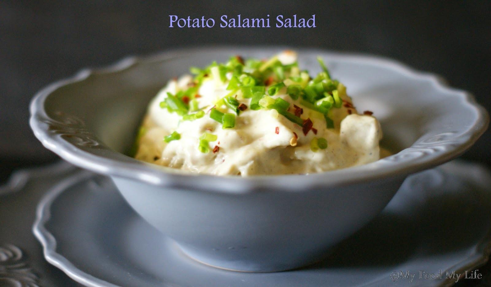 Potato Salami Salad - Creamy Deliciousness