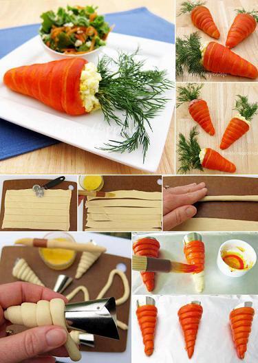 Passo a Passo: Cenouras Recheadas Salgadas
