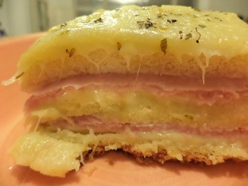 torta misto quente com pão de forma