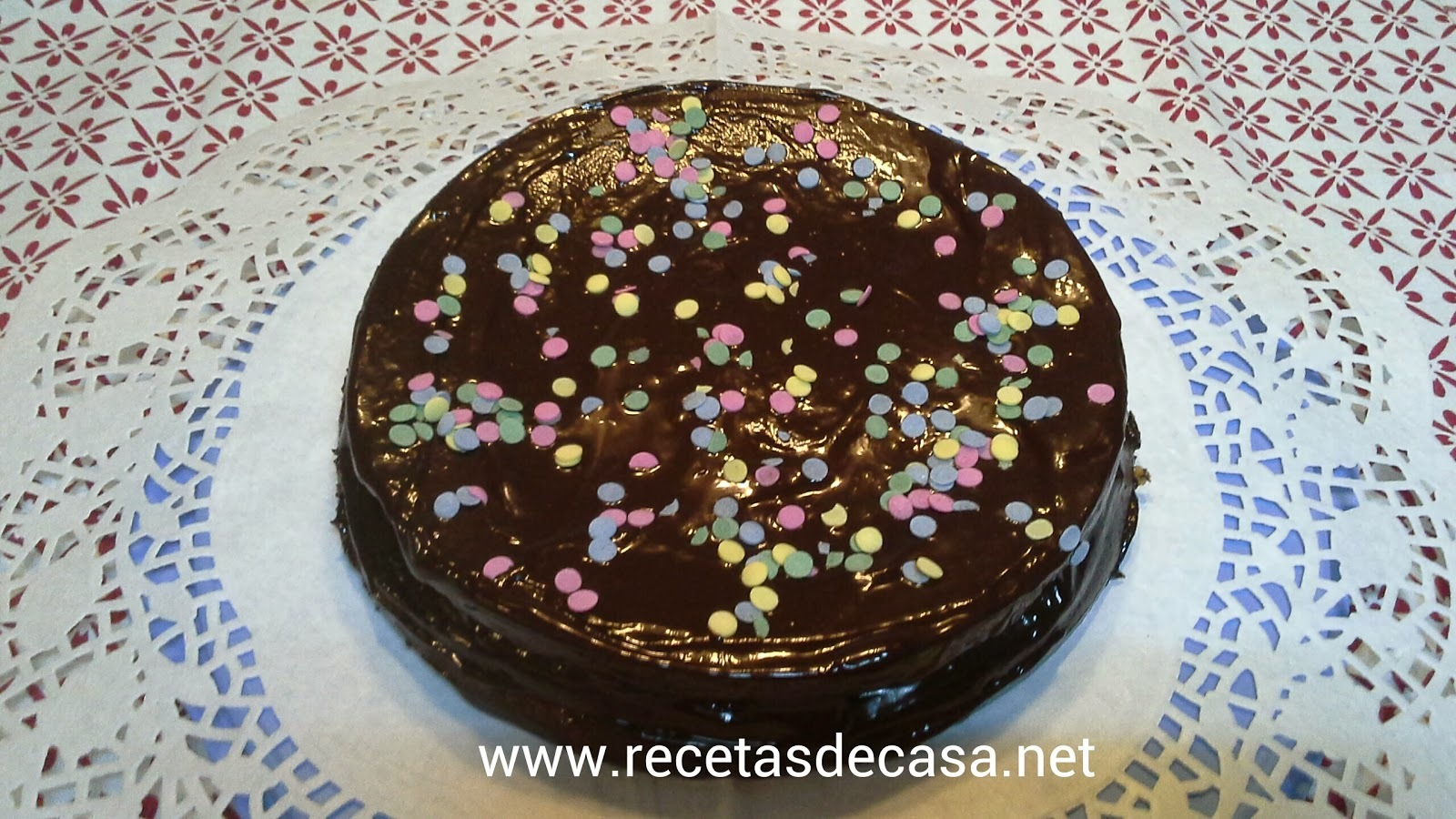 Pastel de queso con chocolate