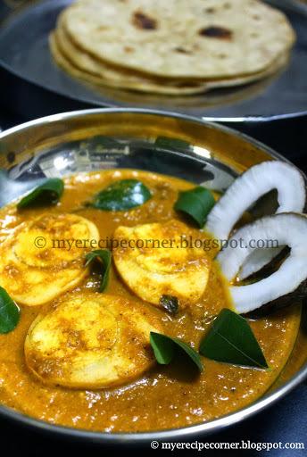 Quick Egg Curry for Chapathi / Muttai Kurma