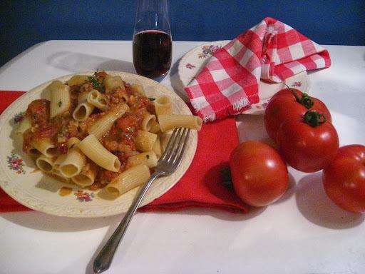 Rigatonis aux tomates confites comme au Bistro l'Aromate pour les mercredis avec Delverde