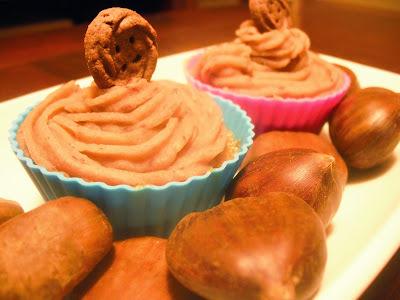 Cupcakes de café y castaña