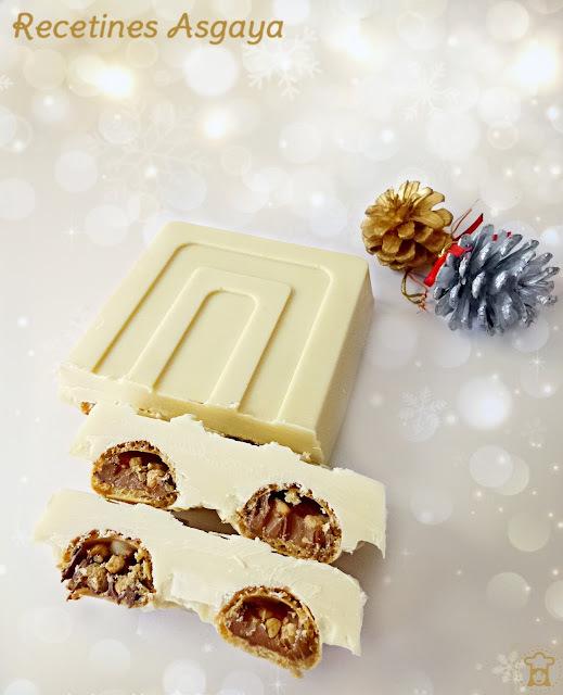 Turrón de Chocolate Blanco y Galletas Nutella B-ready