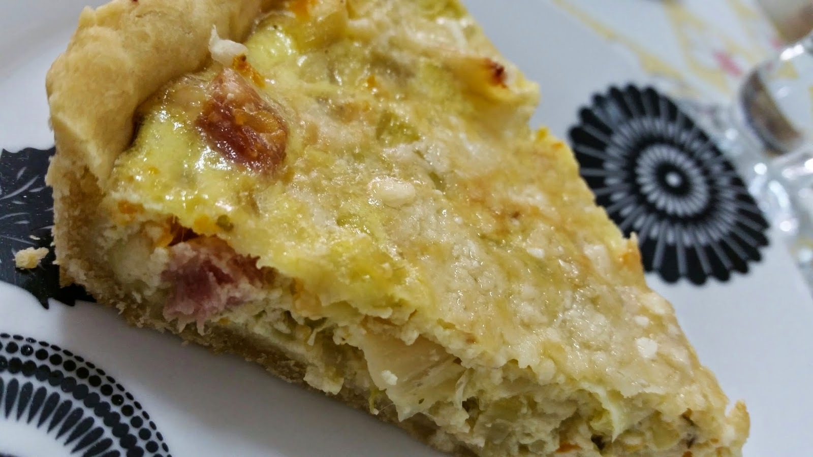 Quiche de Bacon e Alho-Poró