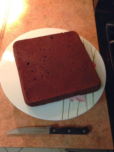 torta de chocolate com bolo pronto