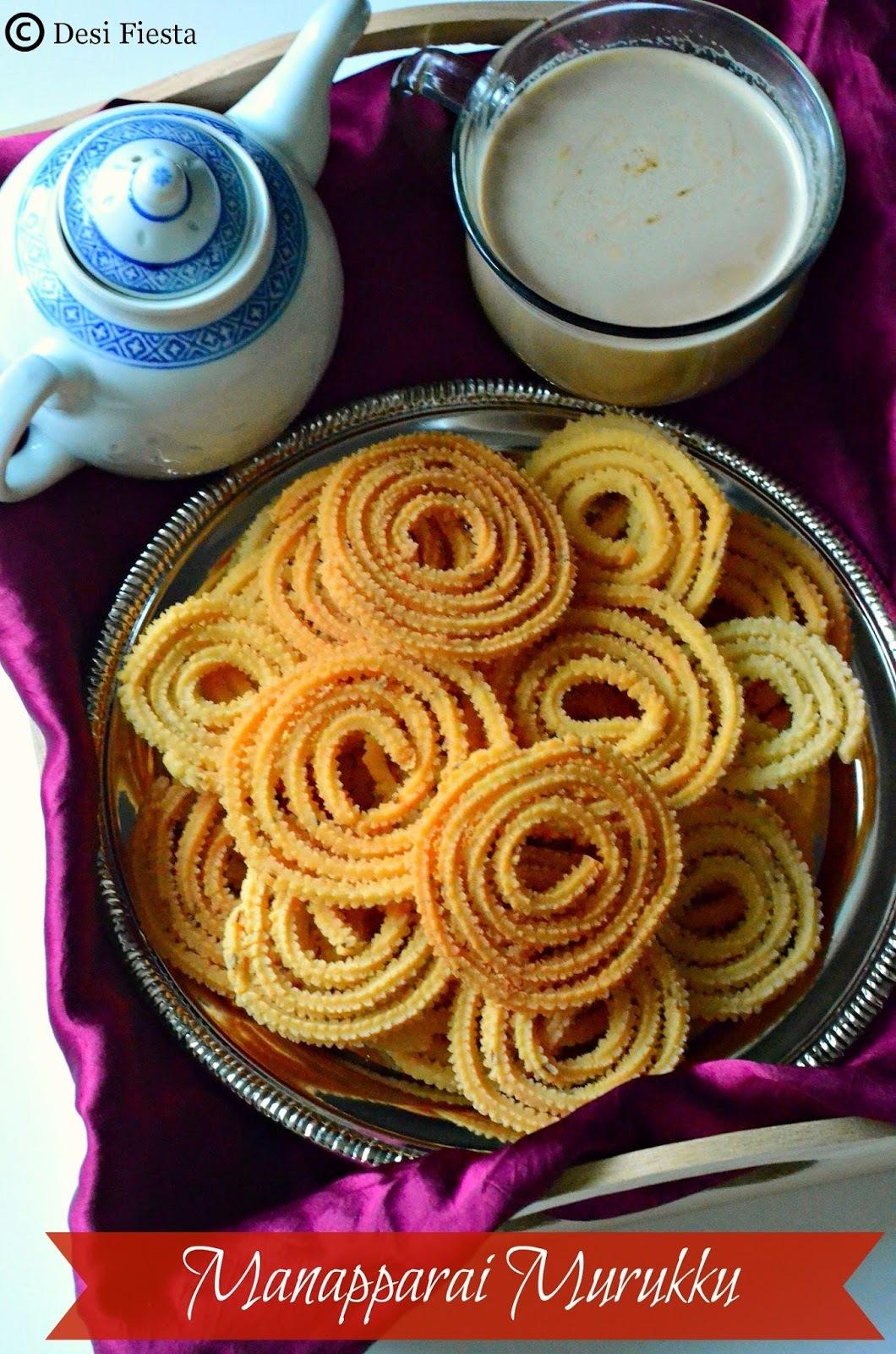 Manapparai Murukku /Tamil Nadu Special Manapparai Murukku Recipe