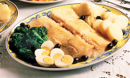 bacalhau com repolho cozido