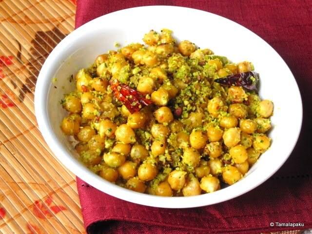 Kabuli Chana Fry ~ Garbanzo Beans Fry