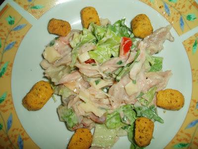salpicão de frango assado
