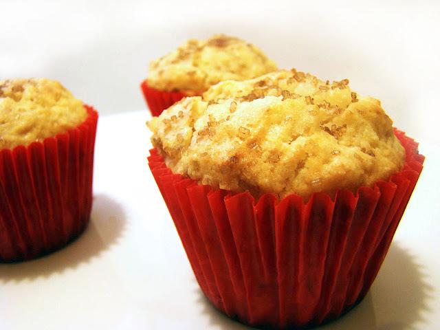 Muffins de ricota y pera