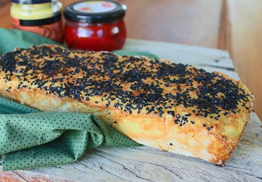 pão de inhame e açafrão (sem glúten)