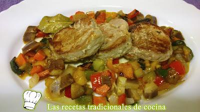 Receta de solomillo Ibérico con verduras