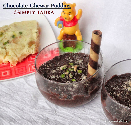 Chocolate Ghewar Pudding