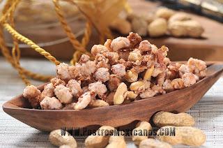 postres yucatecos-cacahuates garapiñados