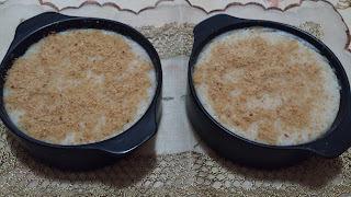 Variação do arroz doce com amendoim moído ou farinha de amendoim