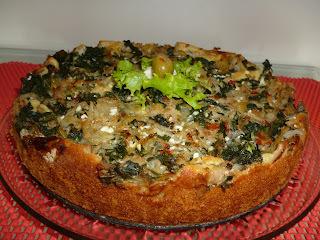 torta de repolho com queijo