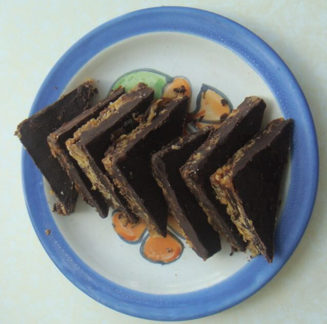 Decadent Date and Ginger Chocolate Slice - Divine