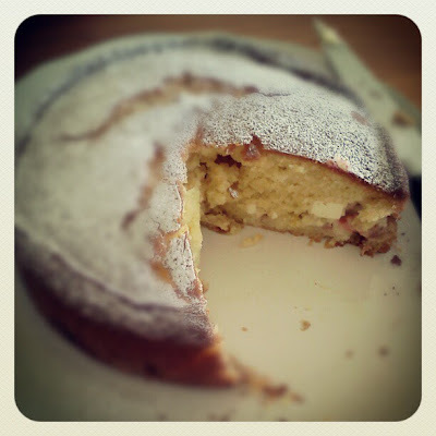 Rhubarb, Lemon and Cream Cheese Cake