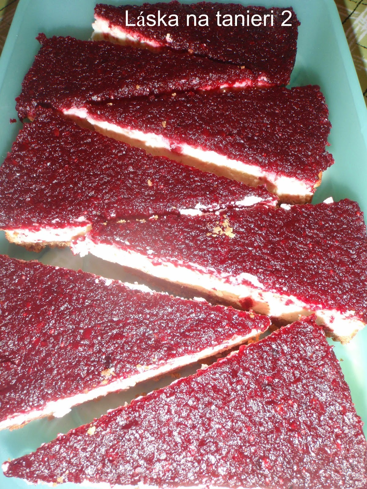 Tvarohový koláč s brusnicami :-)