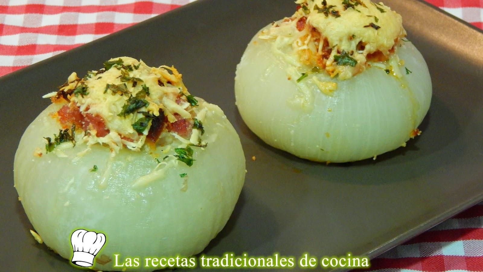 Receta de cebollas rellenas al horno