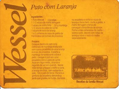 Pato com Laranja dos Wessel  & Mollho Ferrugem