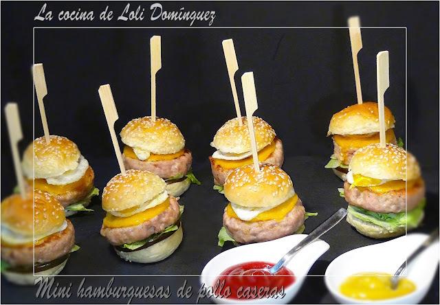 Mini hamburguesas de pollo caseras