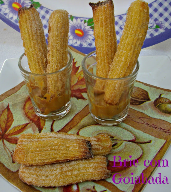 de mini-churros assado