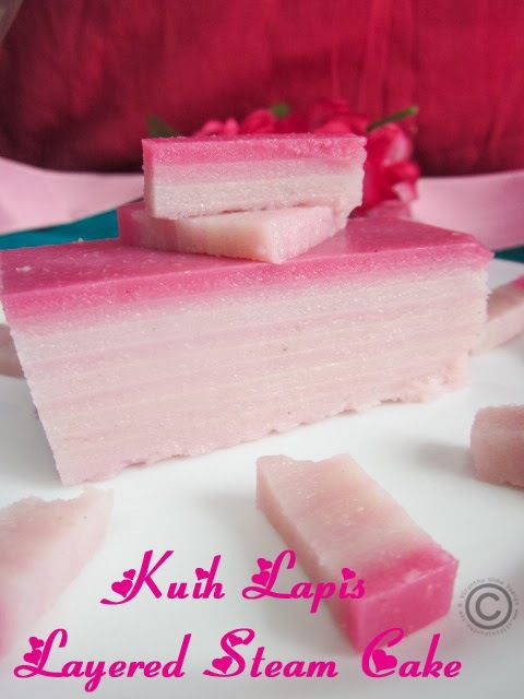 KUIH LAPIS I LAYERED STEAM CAKE I VIRTUAL BIRTHDAY TREAT FOR PRIYA RANJIT!!!