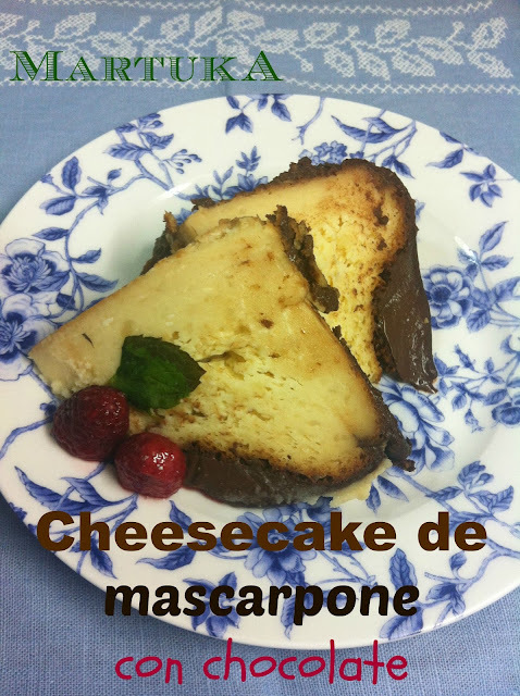 Cheesecake De Mascarpone Con Chocolate (Mascarpone Chocolate Cheesecake)