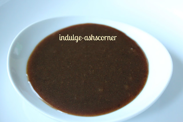 Date-Tamarind Chutney- Khajoor chi ambat goad chutney-Brown chutney for Chaats.