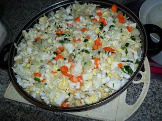 Torta de Aveia com frango e legumes