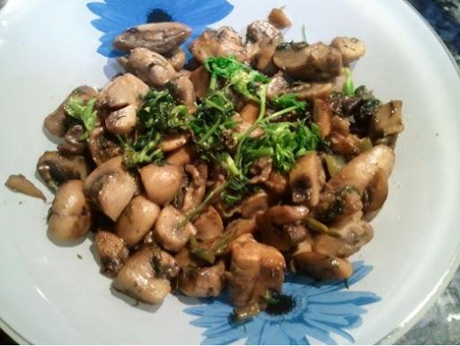 crispy mushroom pepper fry