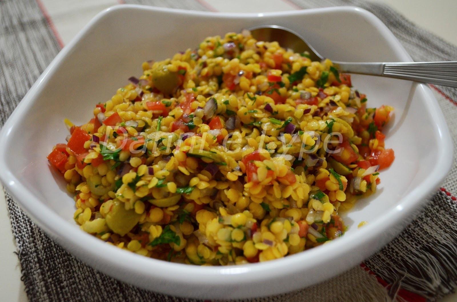 Salada de Lentilha Vermelha