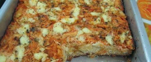 Pizza Caseira de Frango com Catupiry