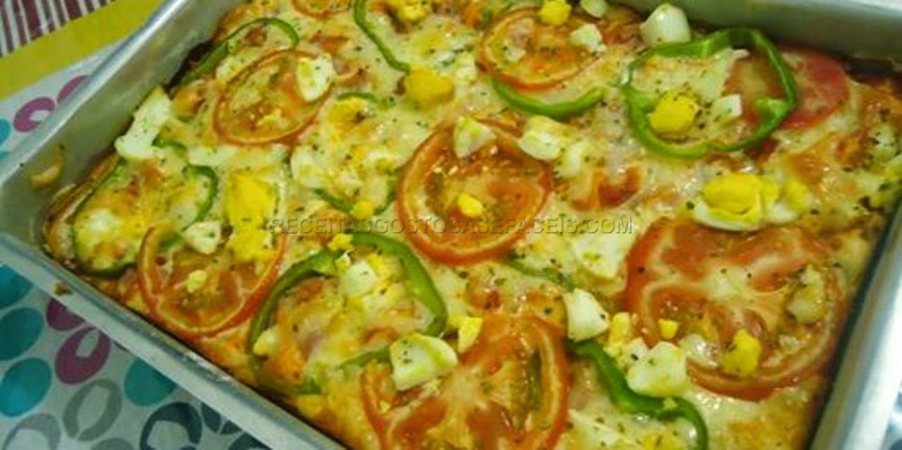 massa de pizza rápida e fácil sem leite no liquidificador