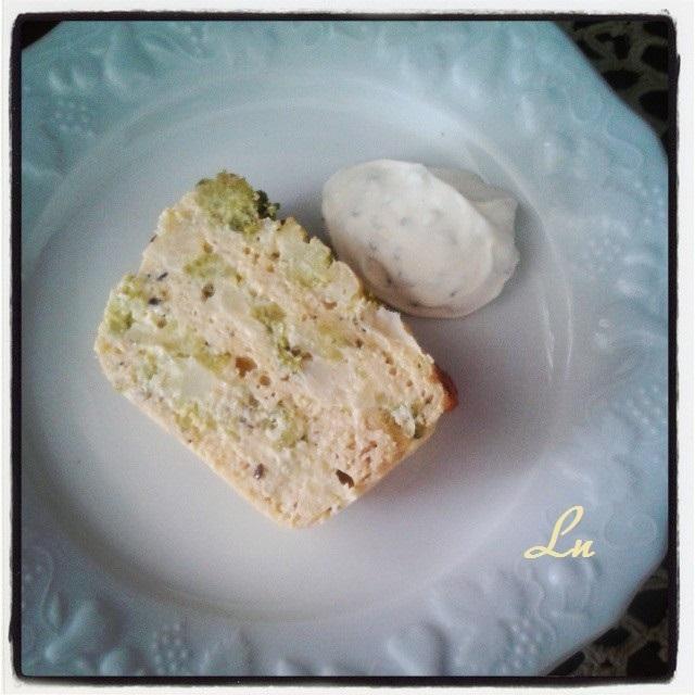 Pain des trois fleurettes , terrine de chou fleur , brocolis et chou romanesco , une recette inspirée par la Tendresse en Cuisine