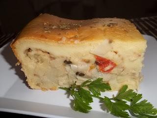 facil de um salgado de queijo e presunto assado no forno