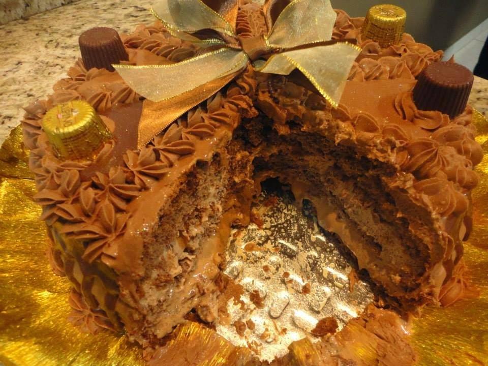 assar bolo no bico do fogão