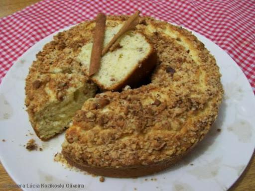 farofa de amendoim para cuca