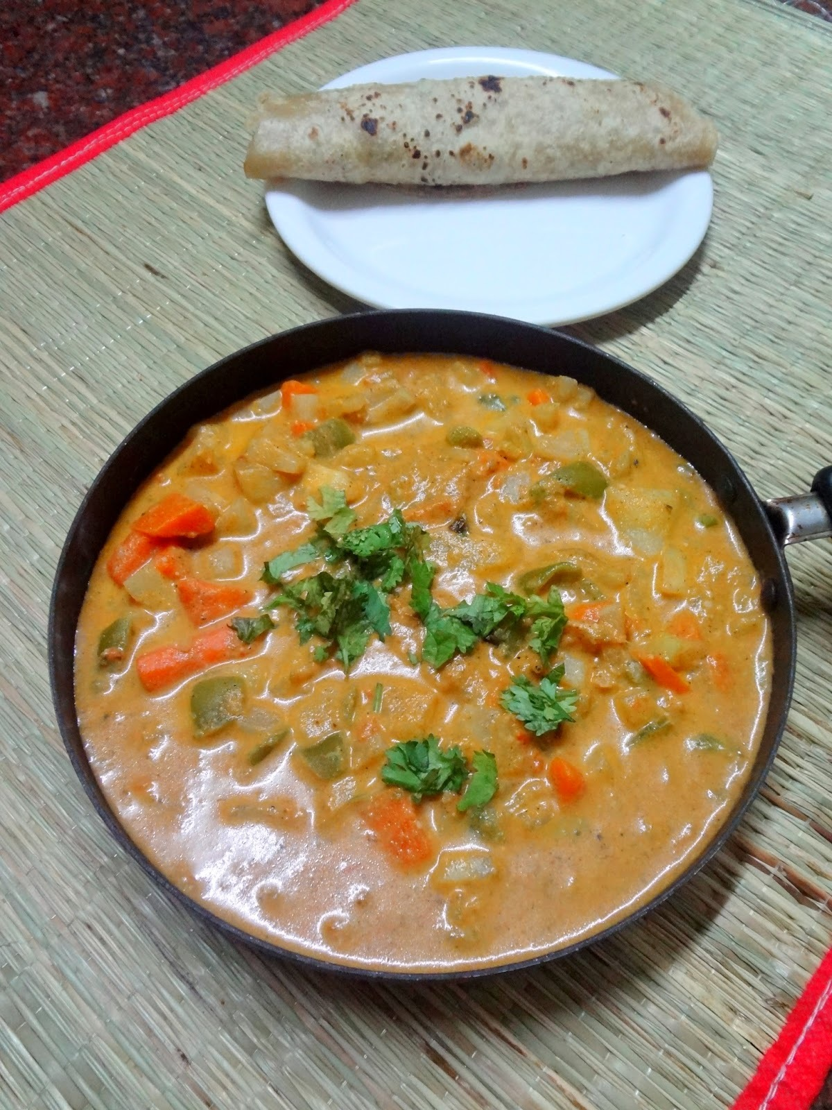 Mixed vegetable cashew gravy...Restaurant style