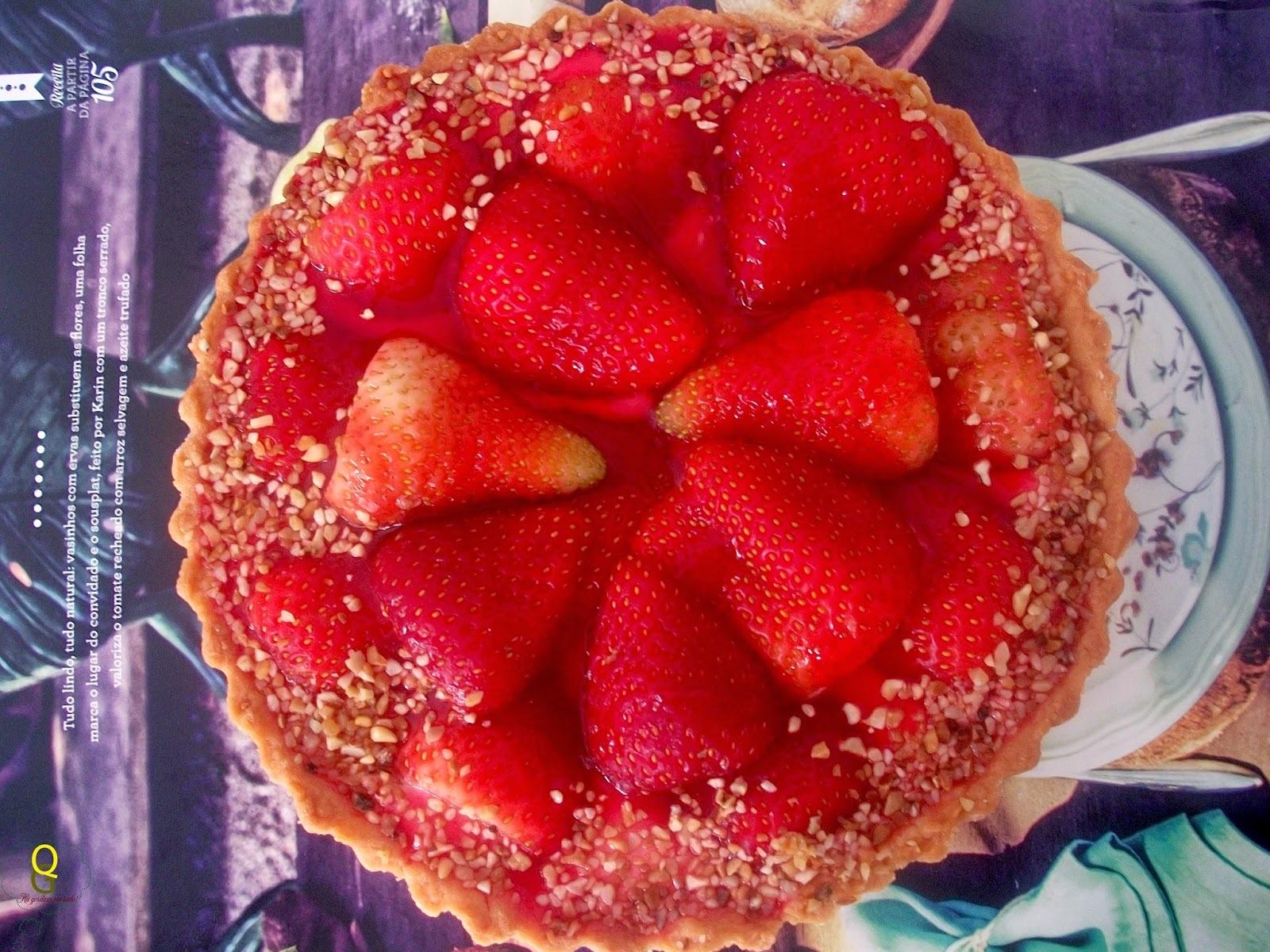 torta de morango pode ser congelada
